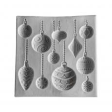 Силиконовый молд Ёлочные игрушки 10,5х10,5 см