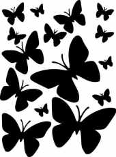 Вафельная картинка A4 Бабочки 24