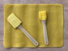 Набор Силиконовый коврик с лопаткой и кистью 27х37 см