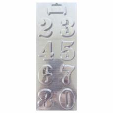 Пластиковая форма для шоколада Цифры 10.5х26.5 см