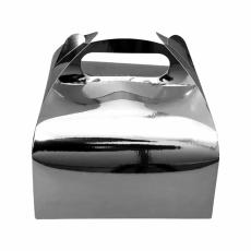 Коробка для десертов серебряная 161х161х70