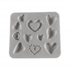 Силиконовый молд набор сердечек