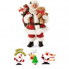 Вафельная картинка A4 Дед Мороз 3
