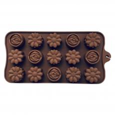 Силиконовая форма для шоколада Цветочное ассорти
