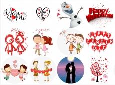 Вафельная картинка A4 День святого Валентина №11