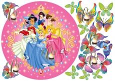 Вафельная картинка A4 Принцессы Диснея 3