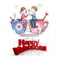 Вафельная картинка A4 День святого Валентина №17