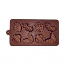 Силиконовая форма для шоколада Букашки ассорти