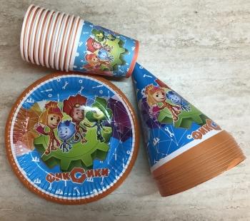 Набор одноразовой посуды Фиксики 3х10 шт