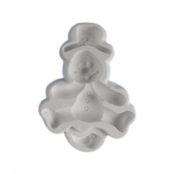 Силиконовый молд Снеговик и птичка 6,5х9 см