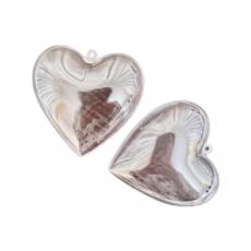 Пластиковое сердце для шоколада 8 см