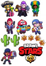 Вафельная картинка A4 BRAWL STARS №1