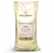 Шоколад Barry Callebaut Velvet 33.1% белый со вкусом свежего молока 100 гр развес