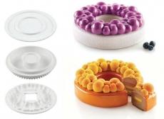 Набор форм для десертов Kit Bubble Crown Silikomart