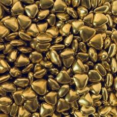 Декоративные сердечки золото 100 гр