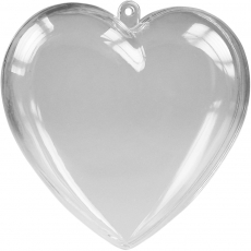 Пластиковое сердце для шоколада 10 см