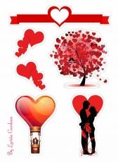 Вафельная картинка A4 Любовь 2021 №1