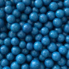 Драже Синие глянцевые 10 мм 100 гр