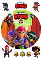 Вафельная картинка A4 BRAWL STARS №7