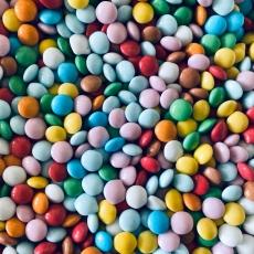 Шоколадные овалы разноцветные 50 гр Италия развес