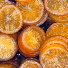Засахаренные апельсиновые дольки 3 шт (~ 55-60 гр) Италия развес