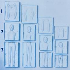Набор пластиковых форм Семья 3D