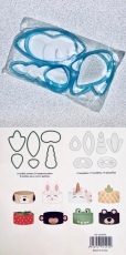 Набор пластиковых вырубок с трафаретами Единорог