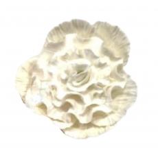 Сахарный цветок Пион средний белый 8 см
