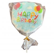 Сахарный топпер на палочке Happy Birthday №2 1 шт