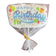 Сахарный топпер на палочке Happy Birthday №4 1 шт