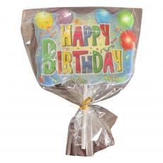 Сахарный топпер на палочке Happy Birthday №5 1 шт