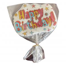 Сахарный топпер на палочке Happy Birthday №6 1 шт