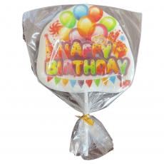 Сахарный топпер на палочке Happy Birthday №7 1 шт