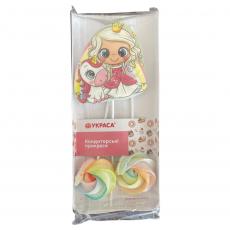 Набор сахарных топперов Принцесса с единорогом и безе 3 шт