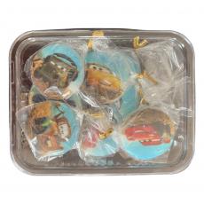 Набор сахарных медальонов Тачки ассорти 4 шт