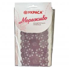 Съедобное сахарное кружево фиолетовое Узор №390 36х9.5 см 3 шт