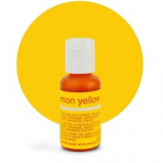 Гелевый краситель Chefmaster lemon yellow / жёлтый лимон, 21 гр (США)