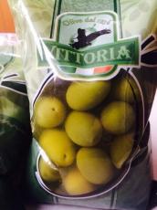 Оливки зеленые с косточкой Vittoria (500 мл, Италия)