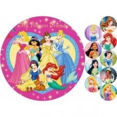 Вафельная картинка A4 Принцессы диснея