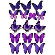 Вафельная картинка A4 Бабочки 6