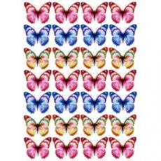 Вафельная картинка A4 Бабочки 2