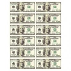 Вафельная картинка A4 100 Долларов США 12 шт