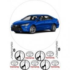 Вафельная картинка A4 Автомобиль Toyota Camry