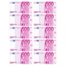 Вафельная картинка A4 500 Евро 12 шт