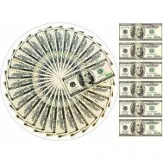 Вафельная картинка A4 100 Долларов США 2