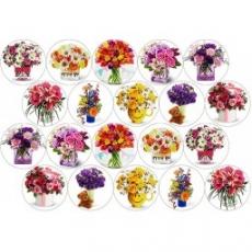 Вафельная картинка A4 Цветы 5