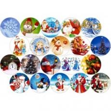 Вафельная картинка A4 Новый год, Рождество 15