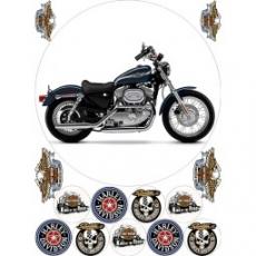 Вафельная картинка A4 Мотоцикл Harley-Davidson