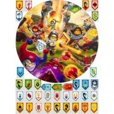 Вафельная картинка A4 Лего Нексо Найтс