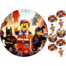 Вафельная картинка A4 Лего 1